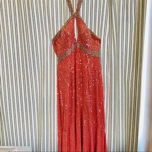 Pink Sean Couture Beaded Gown